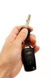 Hand holding car keys Stock Photos
