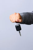Hand holding car keys Royalty Free Stock Photo