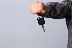 Hand holding car keys Royalty Free Stock Images
