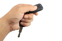 Hand holding car keys Stock Image