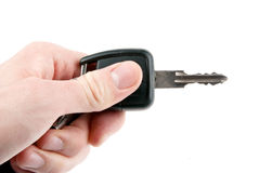 Hand holding car keys isolated Stock Photography