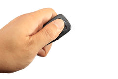 Hand holding car remote Stock Photos