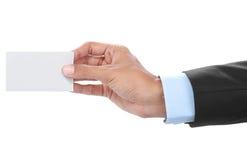 Hand holding card Stock Photos