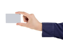 Hand holding a card Royalty Free Stock Photography
