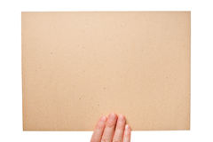 Hand holding cardboard Royalty Free Stock Photo
