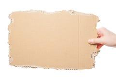 Hand holding cardboard Royalty Free Stock Photo