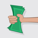 Hand Holding Cash Royalty Free Stock Photo