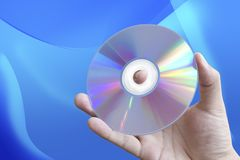 Hand Holding CD Stock Image
