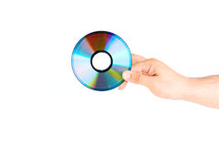 Hand Holding CD/DVD Disc Stock Images