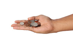 Hand holding cents. Royalty Free Stock Photography