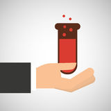 Hand holding chemical test tube filled graphic Royalty Free Stock Images