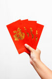 Hand holding Chines Red Envelope. The Hand holding Chines Red Envelope Stock Images