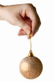Hand Holding Christmas Bauble Royalty Free Stock Photos