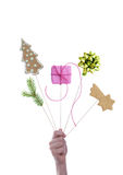 Hand Holding Christmas Decoration Stock Images
