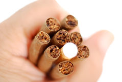 Hand holding Cigarillo. S and cigarette , image of a Stock Images