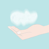 Hand holding cloud Stock Image