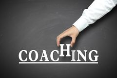 Hand holding coaching concept Royalty Free Stock Photos