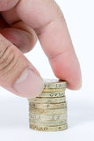 Hand Holding Coins Stock Photos