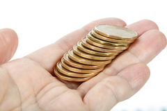 Hand holding coins Stock Photography