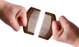 Hand holding Comb Stock Images