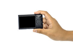 Hand Holding Compact Camera Royalty Free Stock Photo