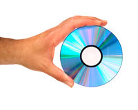 Hand holding compact disc Royalty Free Stock Image