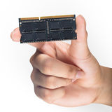 Hand holding computer memory. DDR3 Stock Photos