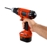 Hand holding cordless drill Royalty Free Stock Photography