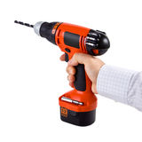 Hand holding cordless drill Stock Photography