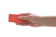 Hand holding a credit card Royalty Free Stock Photography