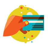 Hand holding credit card Royalty Free Stock Photography