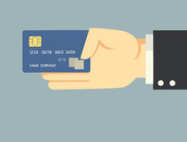 Hand holding credit card Royalty Free Stock Photos