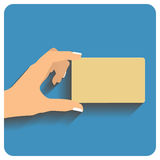 Hand holding credit card Royalty Free Stock Image