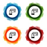 Hand holding a Credit Card Icons. Eps10 Vector vector illustration