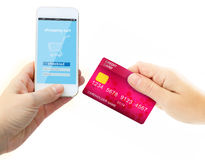 Hand holding credit card for payment Royalty Free Stock Photo