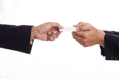 Hand holding credit card Stock Image