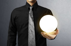 Hand holding Crystal Ball stock photo