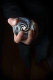 Hand Holding Crystal Ball Stock Image