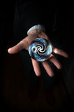 Hand Holding Crystal Ball Royalty Free Stock Photography