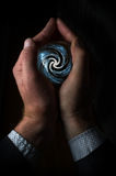 Hand Holding Crystal Ball Royalty Free Stock Images