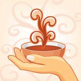 Hand holding a cup Royalty Free Stock Photography