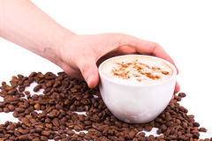 Hand holding a cup of coffee Royalty Free Stock Photo