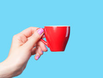 Hand holding cup Royalty Free Stock Photography