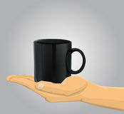 Hand holding a cup Stock Photos