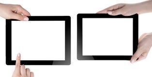 Hand Holding Digital Tablet Stock Photos