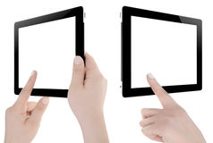 Hand Holding Digital Tablet Royalty Free Stock Photo
