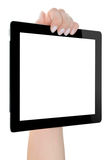 Hand Holding Digital Tablet Royalty Free Stock Photos