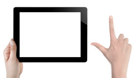 Hand Holding Digital Tablet Stock Photos