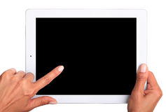 Hand Holding Digital Tablet. Stock Images