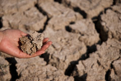 Hand holding dirt Royalty Free Stock Photo